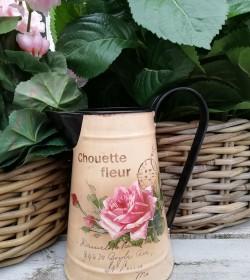 Kande med roser H: 18 cm.