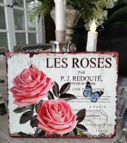 Skilt med roser og...