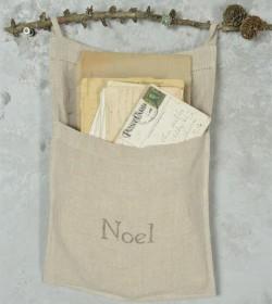 Julepose til breve i hør...