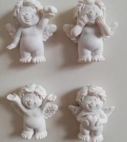 4 stk. magneter med engle...