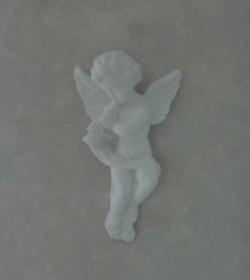Hvid engel i gips (Horn)  - 1
