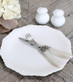 Hvid Provence middagstallerken
