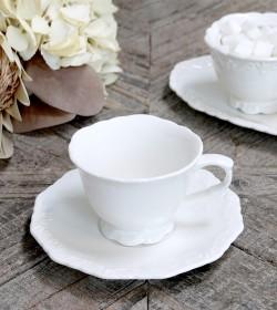 Hvid Provence kaffekop med...
