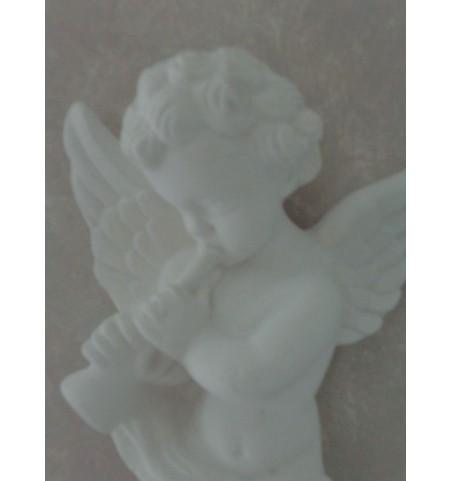 Hvid engel i gips (Horn)  - 2