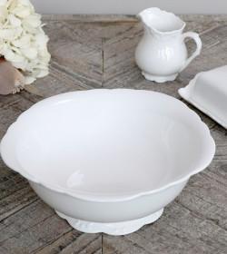 Hvid Provence salatskål Ø:...