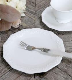 Hvid Provence desserttallerken