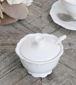 Hvid Provence sukkerskål...