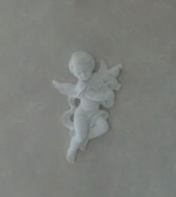 Hvid engel i gips (Violin) - 1