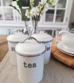 Hvid dåse i metal Tea 1000 ml.