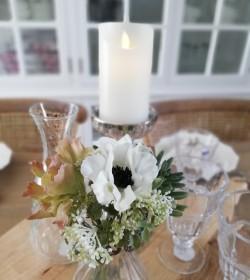 Kunstig buket hvid anemone...