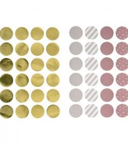 Runde wallstickers (pigefarver) - 1