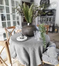 Stor rund vase i jern H: 32...