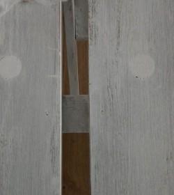 Lille hvidpatineret bænk 118,5 cm.  - 2