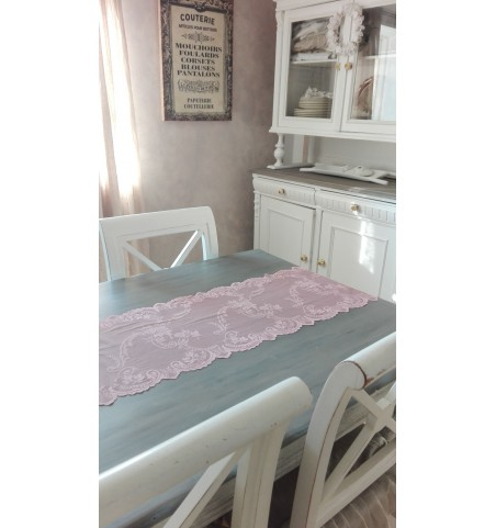 Antik rosa blonde bordløber pr. meter - 1