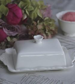 Hvid Provence smør box - 1