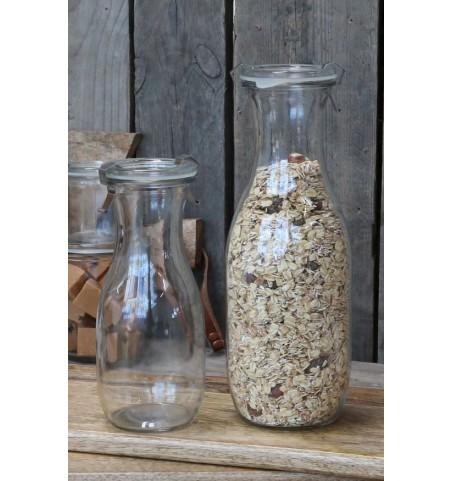 Glasflaske med patentlåg H: 19 cm.  - 1