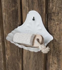 Hvid sæbeskål til væg i...