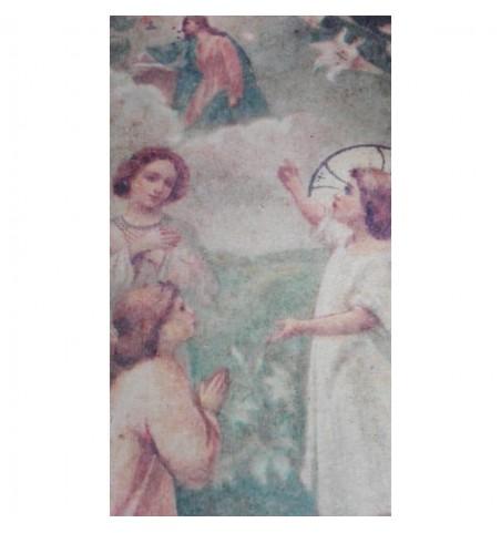 Stor plakat med englemotiv 34 x 54 cm.  - 2