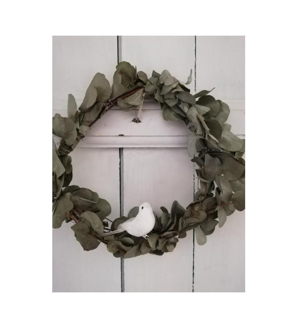 Hvid fugl med clips - 1