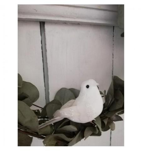 Hvid fugl med clips - 2