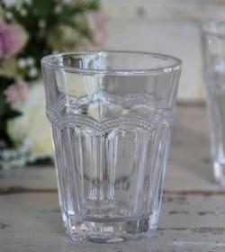 Vandglas med perlekant H: 11 cm.  - 1
