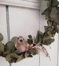 Brun naturfarvet fugl med clips - 2