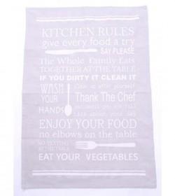 Lysegrå viskestykker 2 stk. (Kitchen rules) - 2