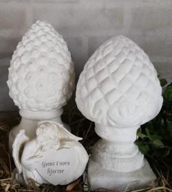 Kogle i marmor H: 27 cm. (smal)  - 1