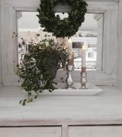 Hvidt træfad 21x40,5 cm.  - 1