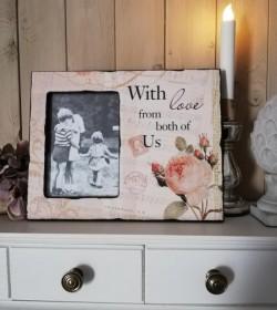Billederamme med roser (With love..) - 1