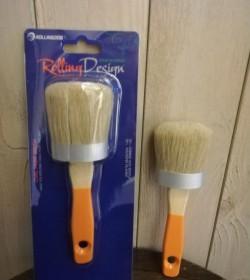 Oval pensel til kalkmaling eller antikvoks 55 mm.  - 2