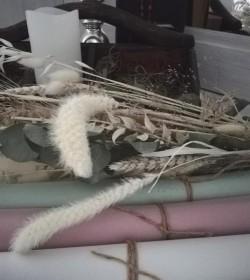 Silkepapir støvet grøn 10 stk. ark 50x75 cm.  - 1