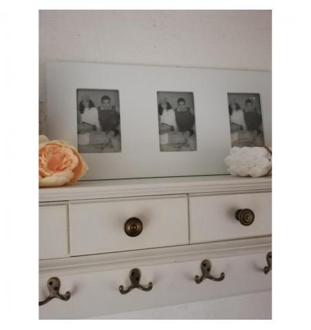 Hvid billederamme til 3 fotos  - 1