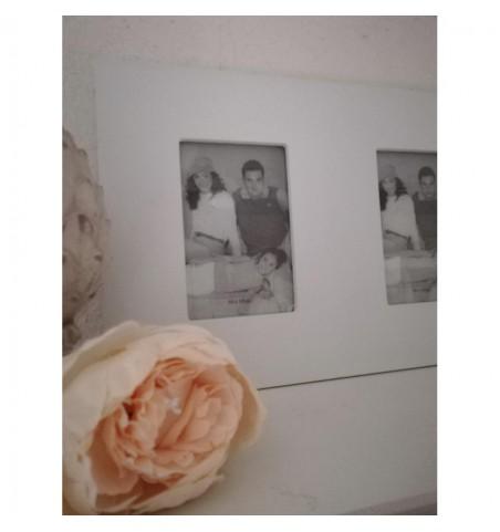 Hvid billederamme til 3 fotos  - 2