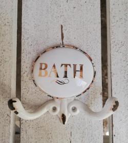 Dobbeltknage Bath i patineret metal - 1