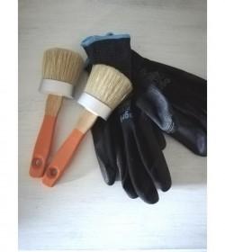 Penselpakke 3 (2 ovale pensler og 1 par handsker str. 9) - 1