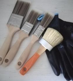 Penselpakke 2 (4 pensler og 1 par handsker str. 9) - 1
