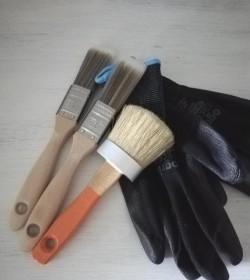 Penselpakke 1 (3 pensler og 1 par handsker str. 9) - 1
