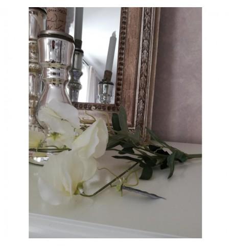Kunstig ærteblomst hvid L: 70 cm. pr. stk.  - 2