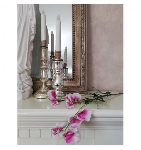 Kunstig ærteblomst lilla/hvid L: 70 cm. pr. stk.  - 1