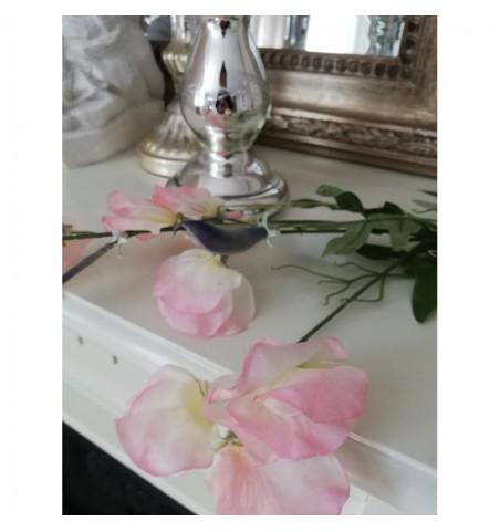 Kunstig ærteblomst lyserød L: 70 cm. pr. stk.  - 2