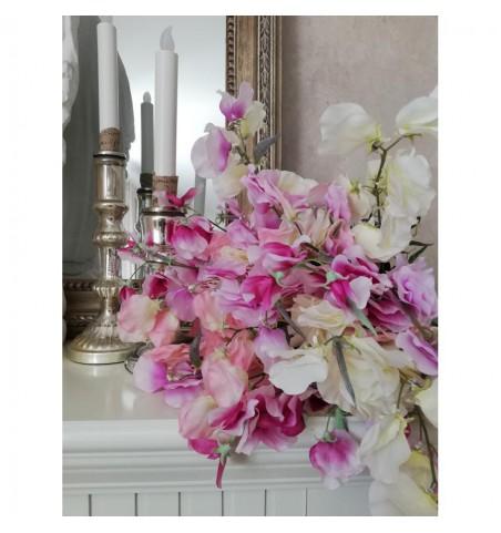 Kunstig ærteblomst lyserød L: 70 cm. pr. stk.  - 3