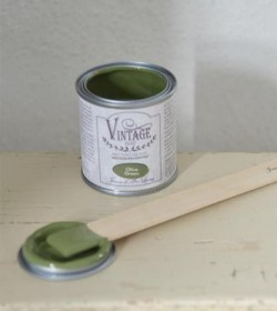 Kalkmaling Olive green 700 ml. - 2