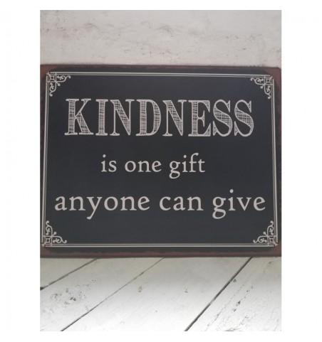 Sort skilt Kindness.. 30,5x39,5 cm.  - 1