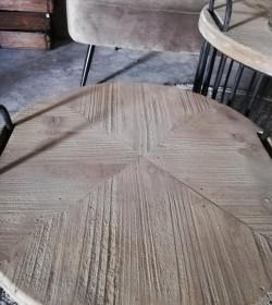 Sæt med 2 stk. sorte sofaborde med trælåg Ø: 48/56,5 cm.  - 4