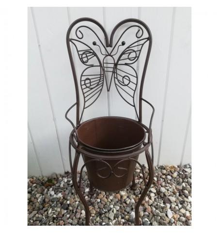 Brun sommerfuglestol til planter H: 59 cm.  - 2