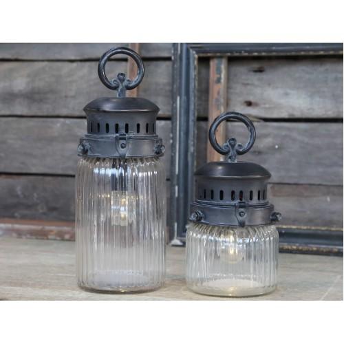 Fransk stald lanterne H: 22 cm. (buttet)