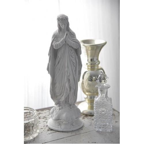 "Hvid madonna ""Sankt Therese"" H: 31 cm."