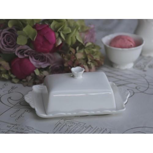 Hvid Provence smør box