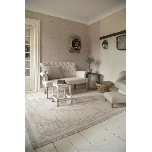 Gulvtæppe grå/rosa 120 x 180 cm. -Solgt
